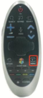 دکمه منو در کنترل ماهواره